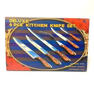 Vintage Deluxe Kitchen Knife Set 6pc Made in Japan